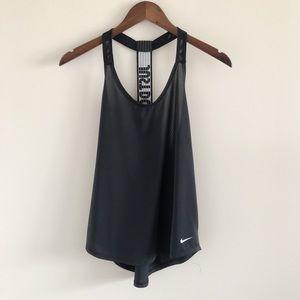 Nike Elastika Elevate JDI Just Do It Black Tank S